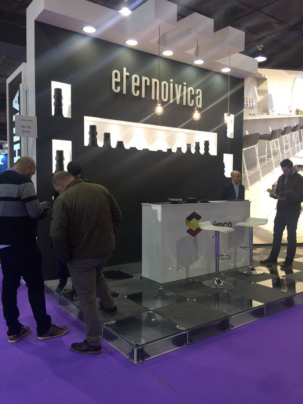 Eterno Ivica's stand at Cevisama 2018
