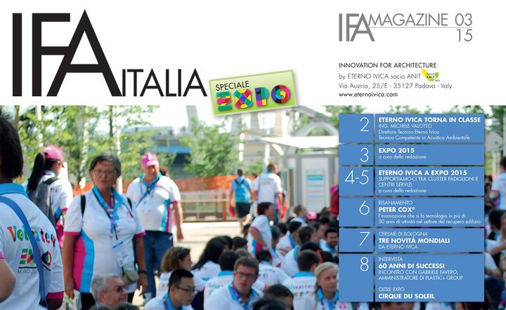 IFA MAGAZINE • N. 3 OTTOBRE 2015 • Innovation for architecture
