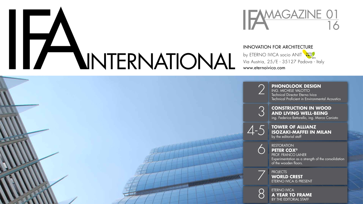 IFA MAGAZINE • N. 1 JANUARY 2016 • Innovation for architecture