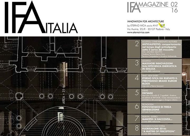IFA MAGAZINE • N. 2 GIUGNO 2016 • Innovation for architecture