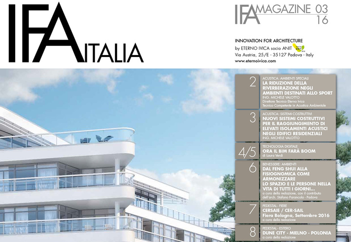 IFA MAGAZINE • N. 3 SETTEMBRE 2016 • Innovation for architecture
