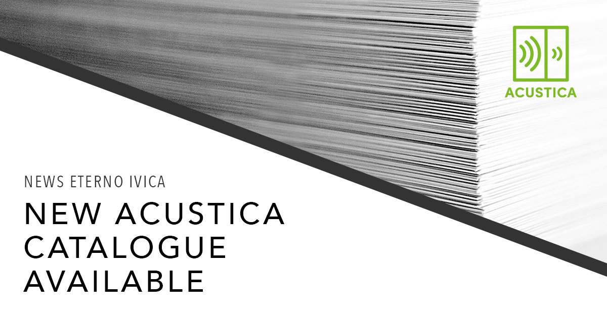 New catalogue for Acustica!