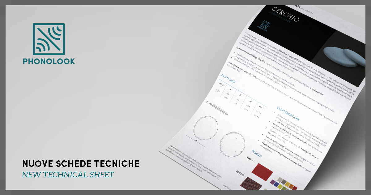 New Phonolook technical datasheets